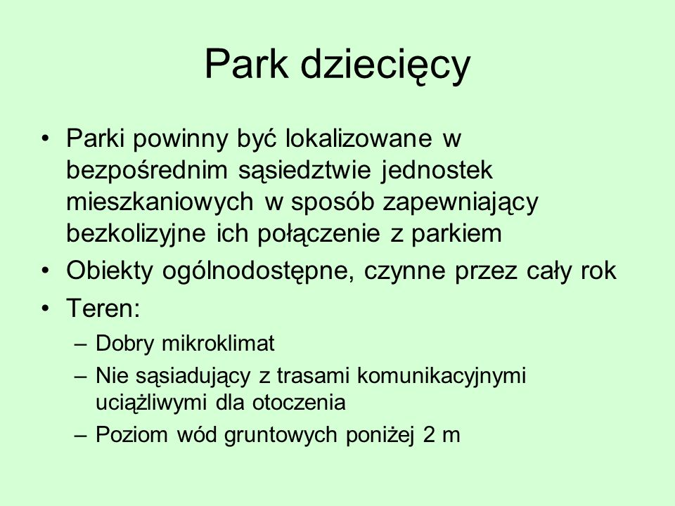 Park dziecięcy