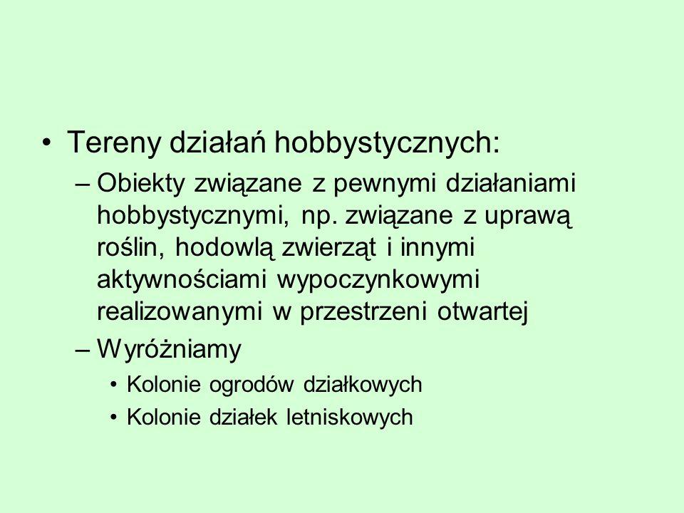 Tereny działań hobbystycznych:
