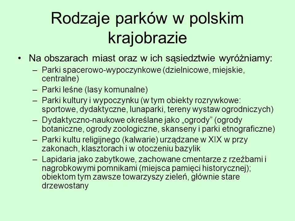 Rodzaje parków w polskim krajobrazie