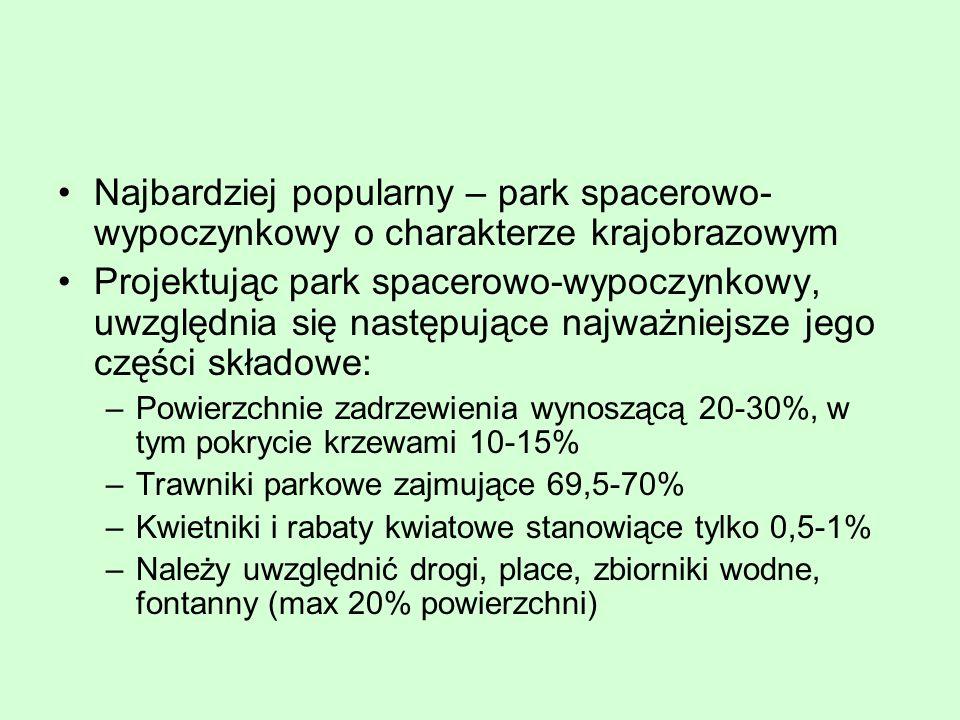Najbardziej popularny – park spacerowo-wypoczynkowy o charakterze krajobrazowym