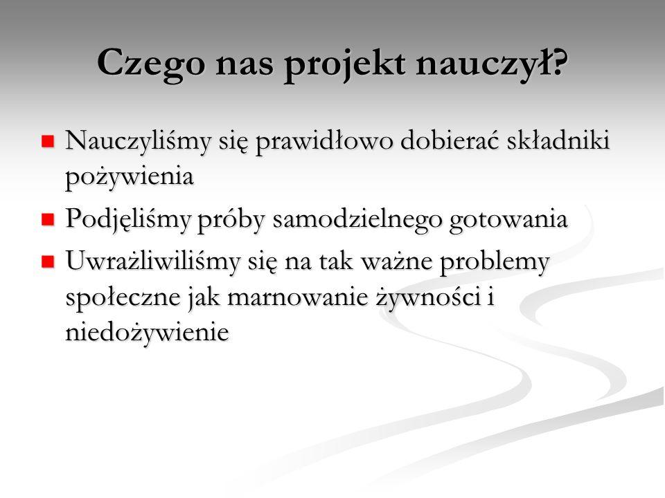 Czego nas projekt nauczył