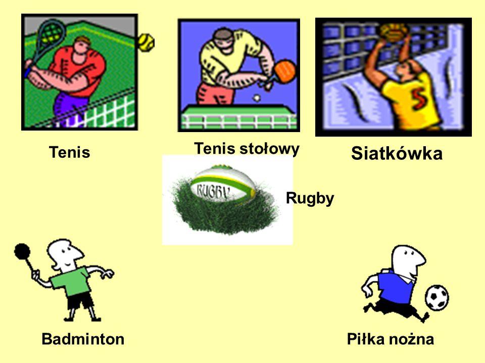 Tenis Tenis stołowy Siatkówka Rugby Badminton Piłka nożna