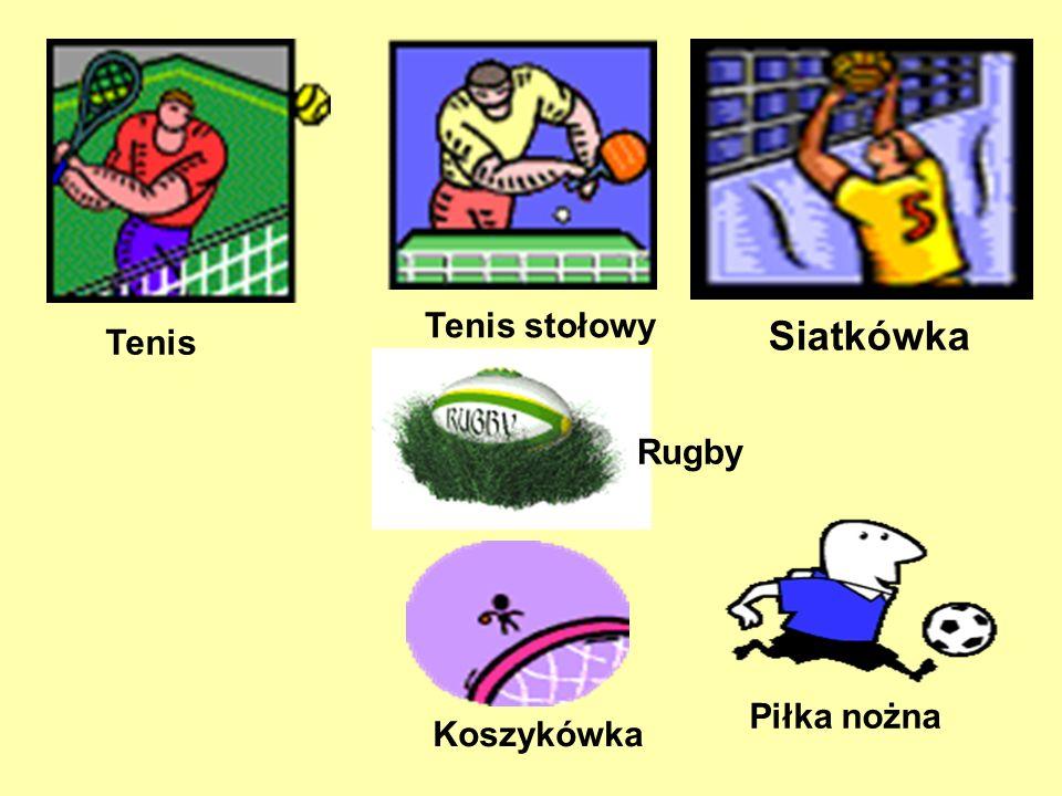 Tenis stołowy Tenis Siatkówka Rugby Piłka nożna Koszykówka