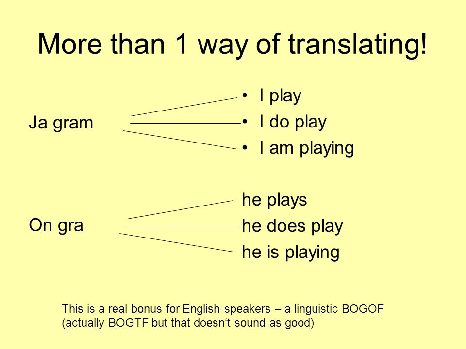 More than 1 way of translating!