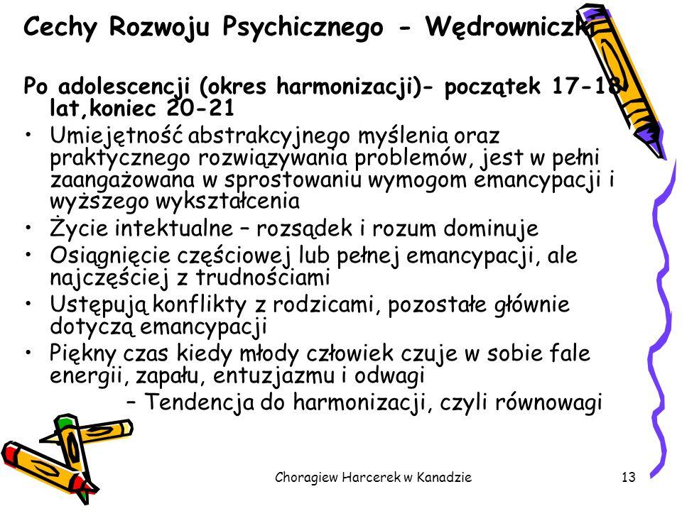 Cechy Rozwoju Psychicznego - Wędrowniczki