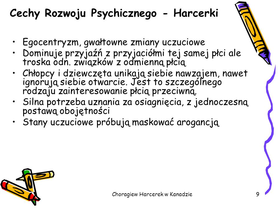 Cechy Rozwoju Psychicznego - Harcerki