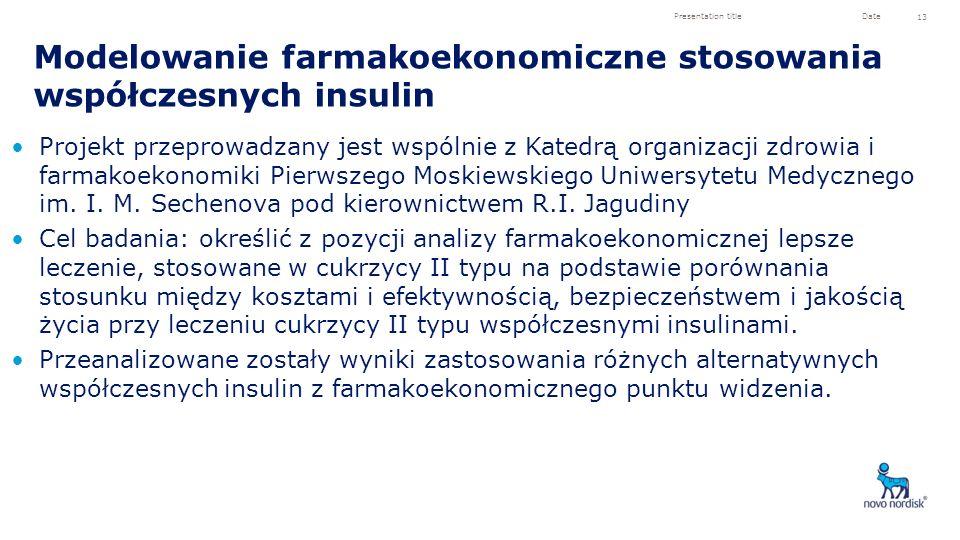 Modelowanie farmakoekonomiczne stosowania współczesnych insulin