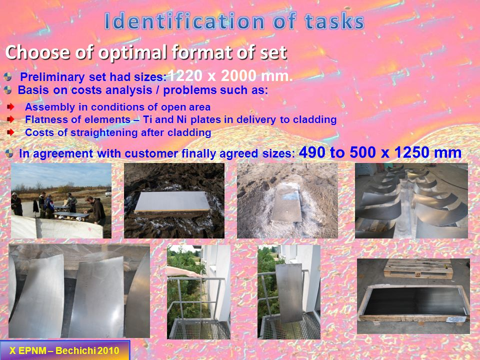 Identification of tasks