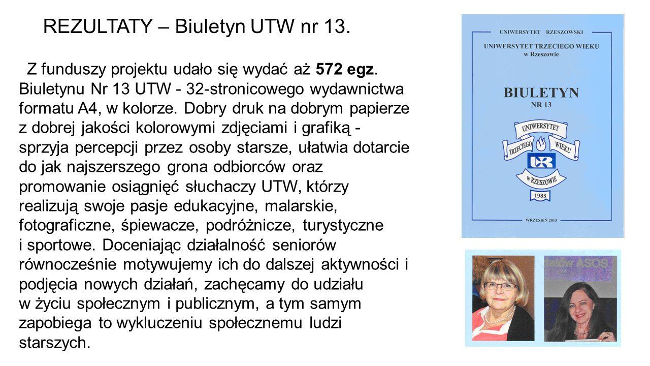 REZULTATY – Biuletyn UTW nr 13.