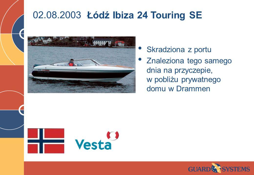 02.08.2003 Łódź Ibiza 24 Touring SE Skradziona z portu