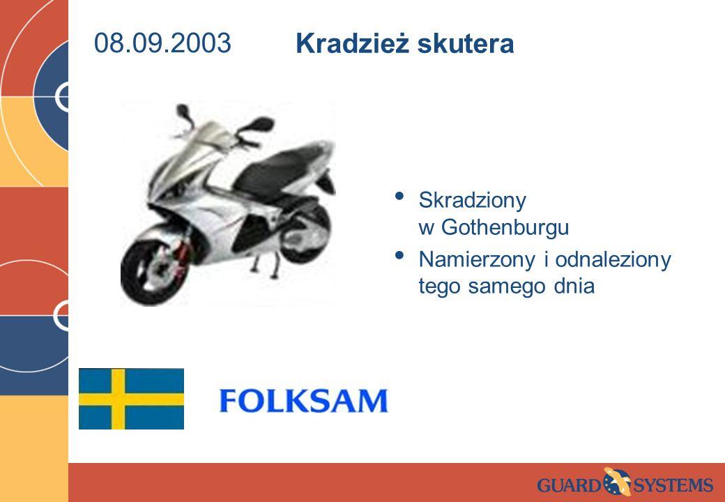 08.09.2003 Kradzież skutera Skradziony w Gothenburgu