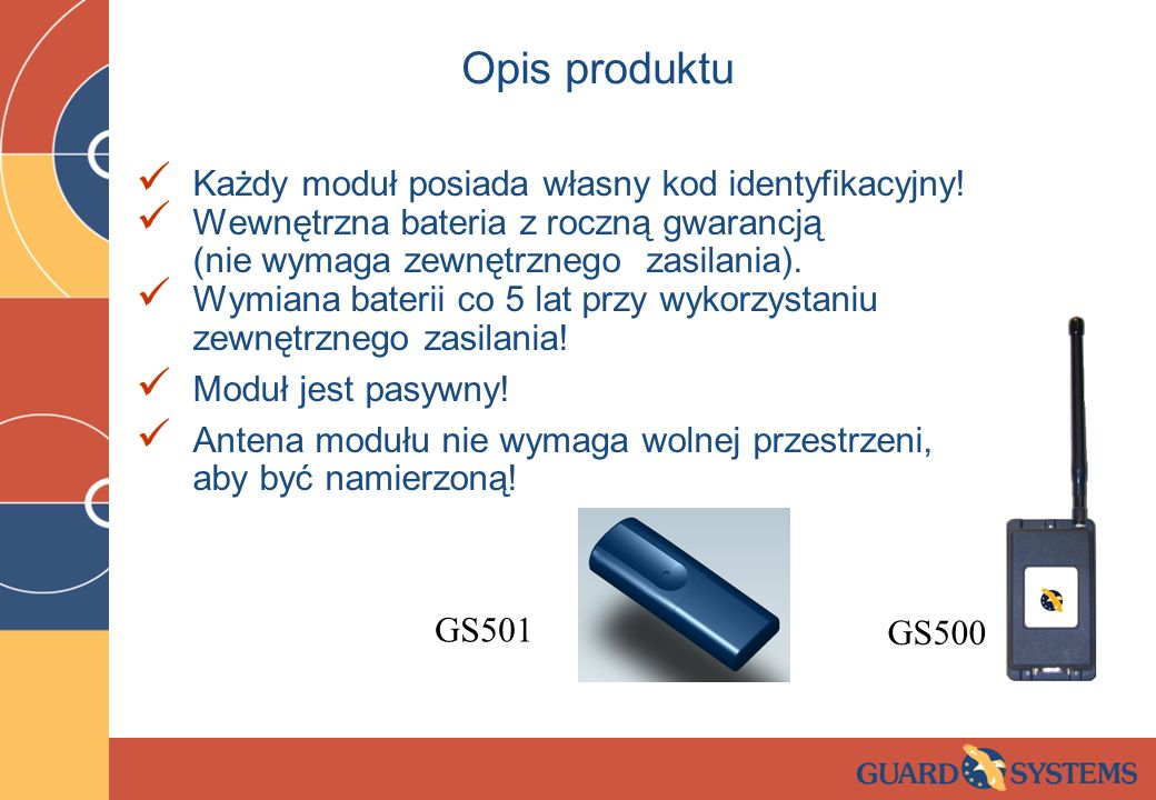 Opis produktu Każdy moduł posiada własny kod identyfikacyjny!