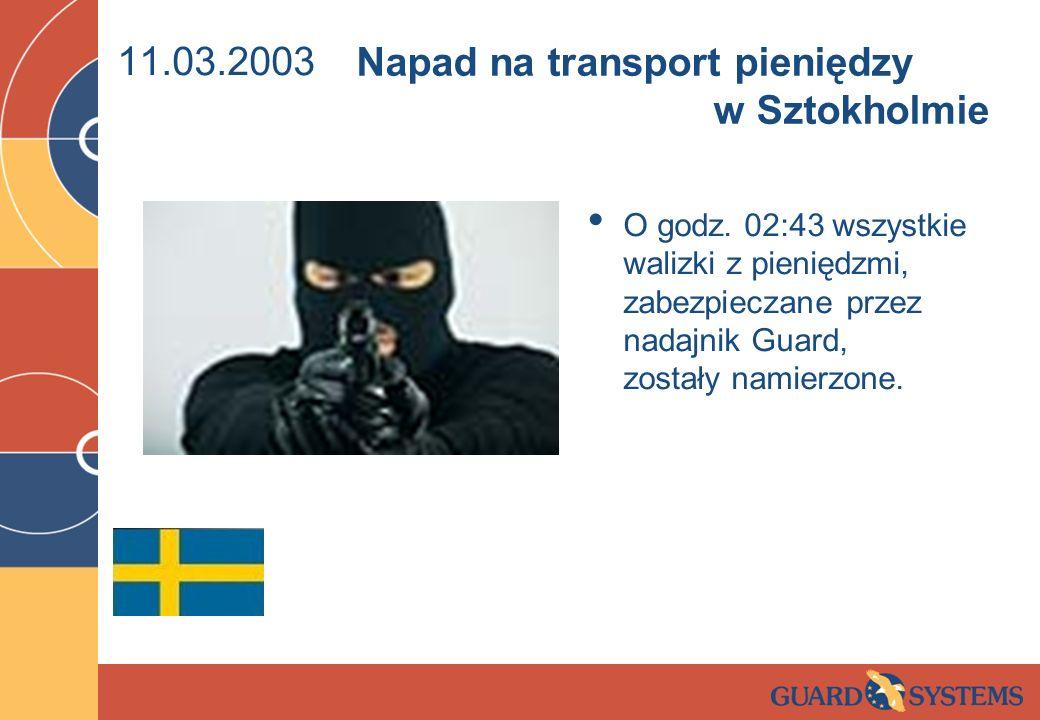 Napad na transport pieniędzy w Sztokholmie