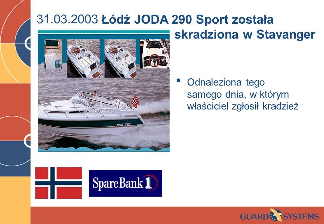 Łódź JODA 290 Sport została skradziona w Stavanger
