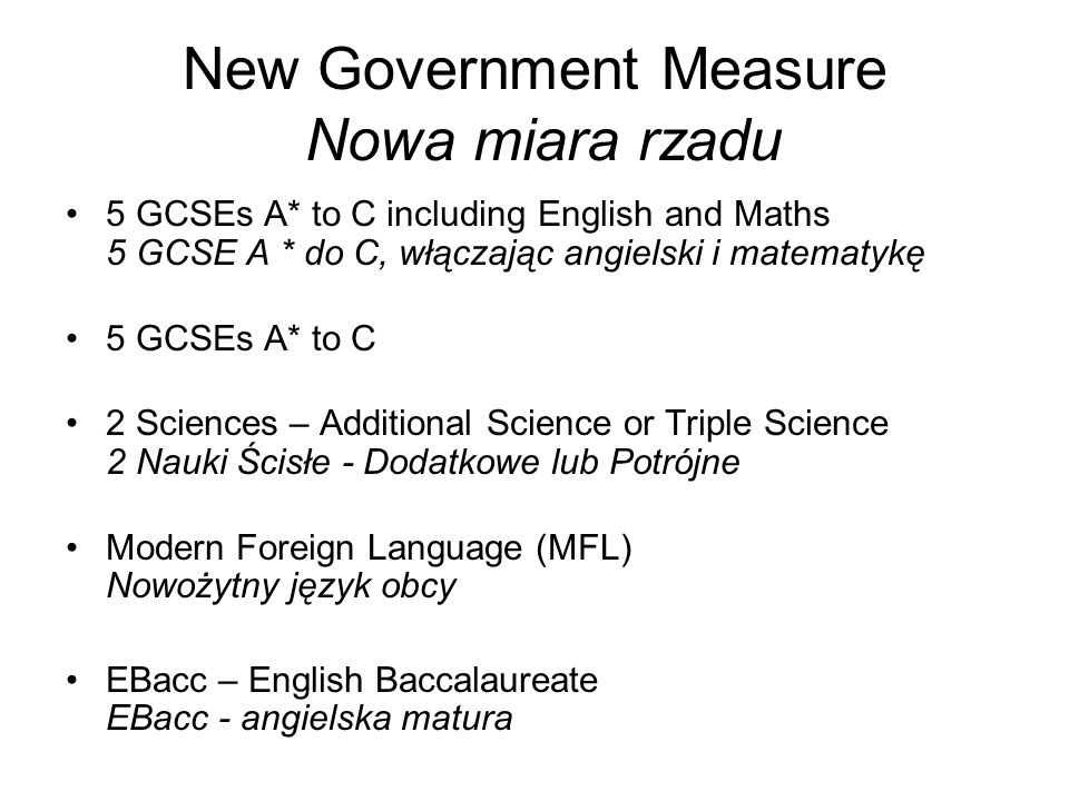 New Government Measure Nowa miara rzadu