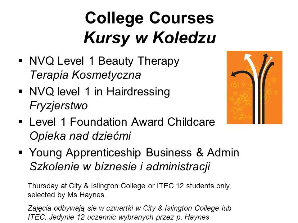 College Courses Kursy w Koledzu