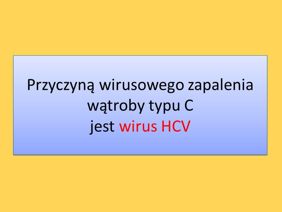 Przyczyną wirusowego zapalenia wątroby typu C jest wirus HCV