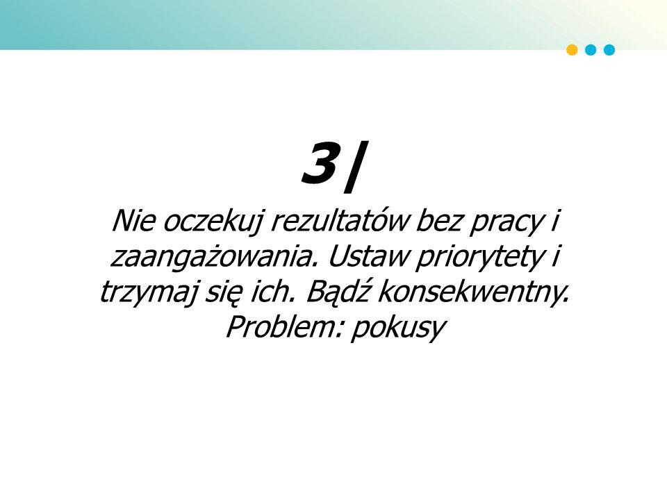 3| Nie oczekuj rezultatów bez pracy i zaangażowania.