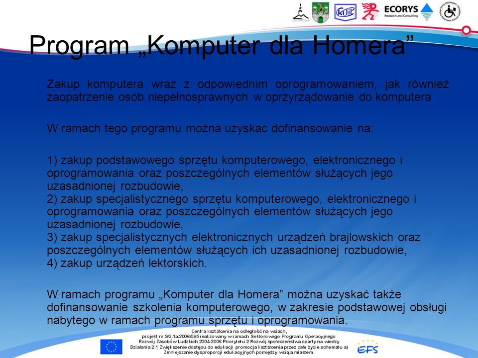 "Program ""Komputer dla Homera"