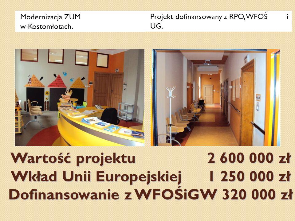 Modernizacja ZUM w Kostomłotach.