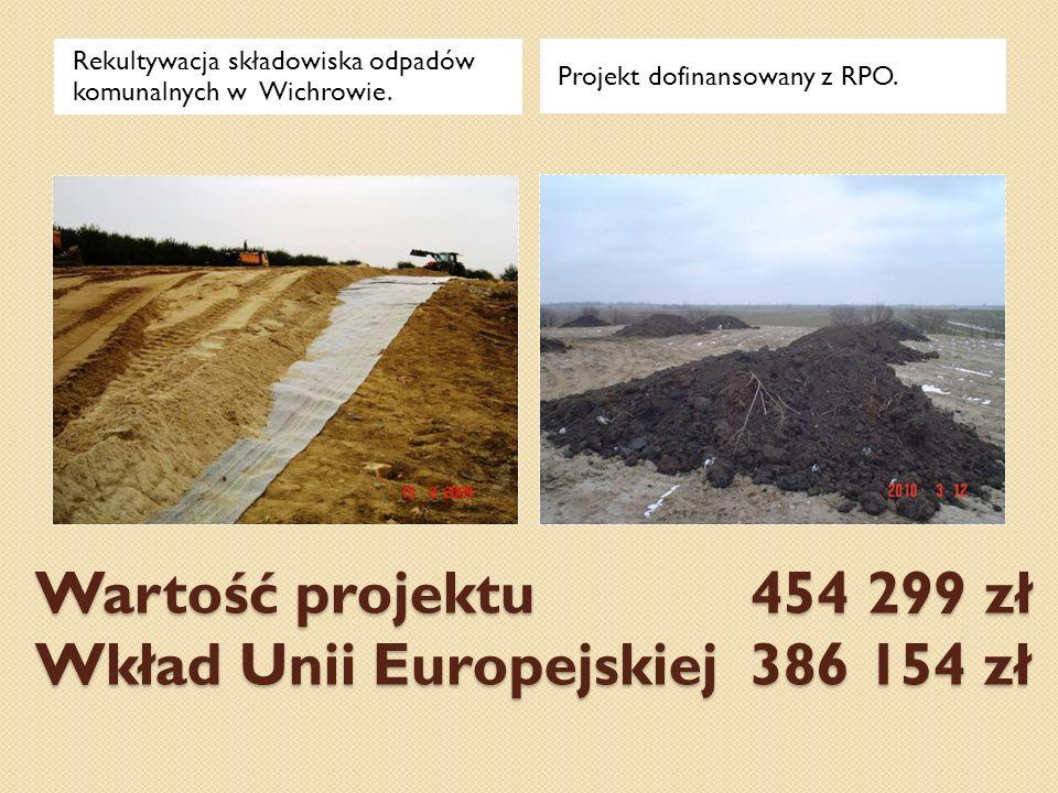Wartość projektu 454 299 zł Wkład Unii Europejskiej 386 154 zł