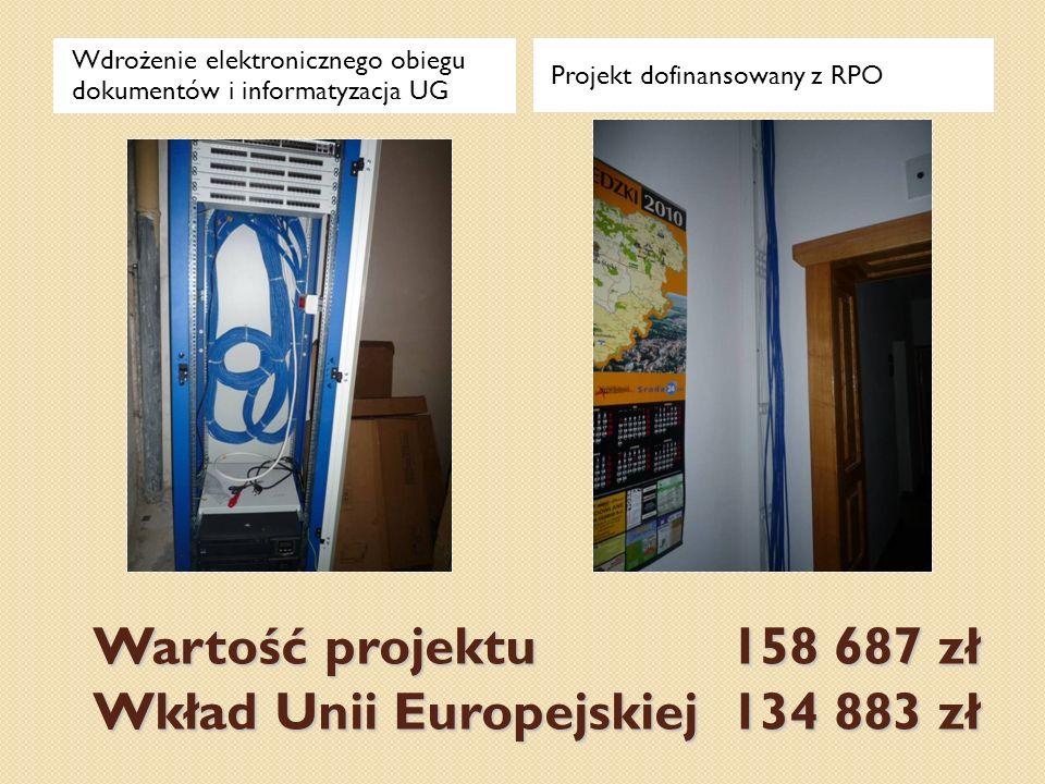 Wartość projektu 158 687 zł Wkład Unii Europejskiej 134 883 zł