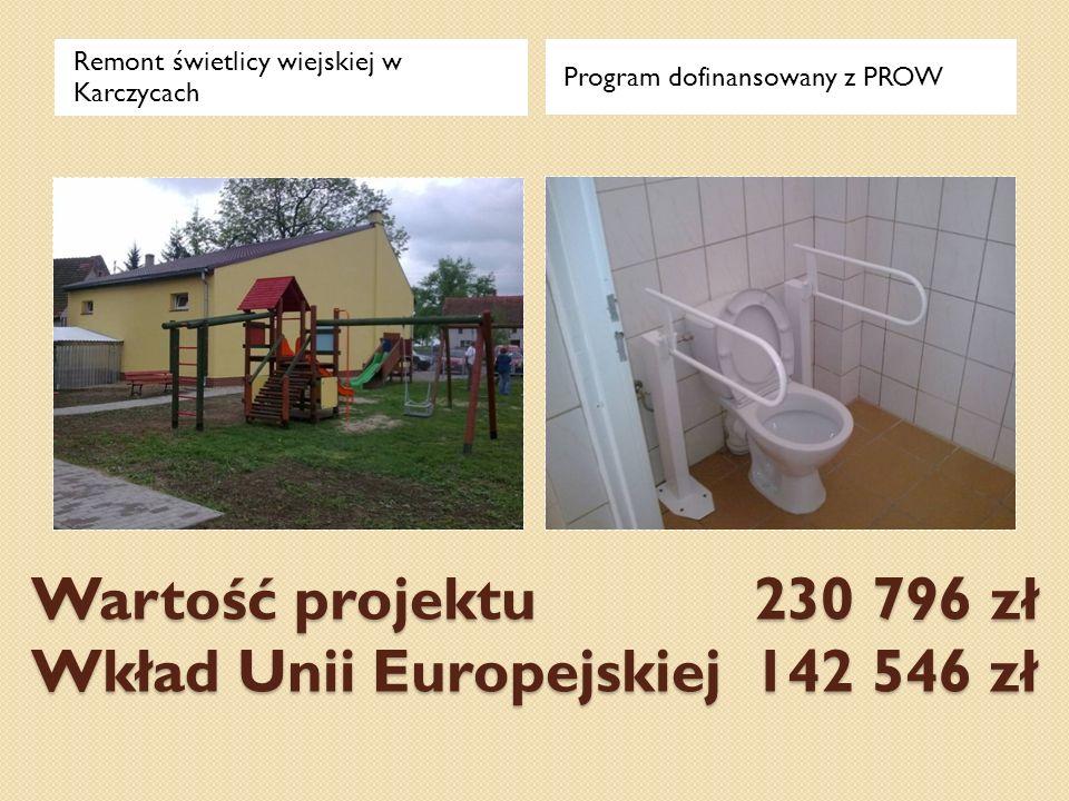 Wartość projektu 230 796 zł Wkład Unii Europejskiej 142 546 zł