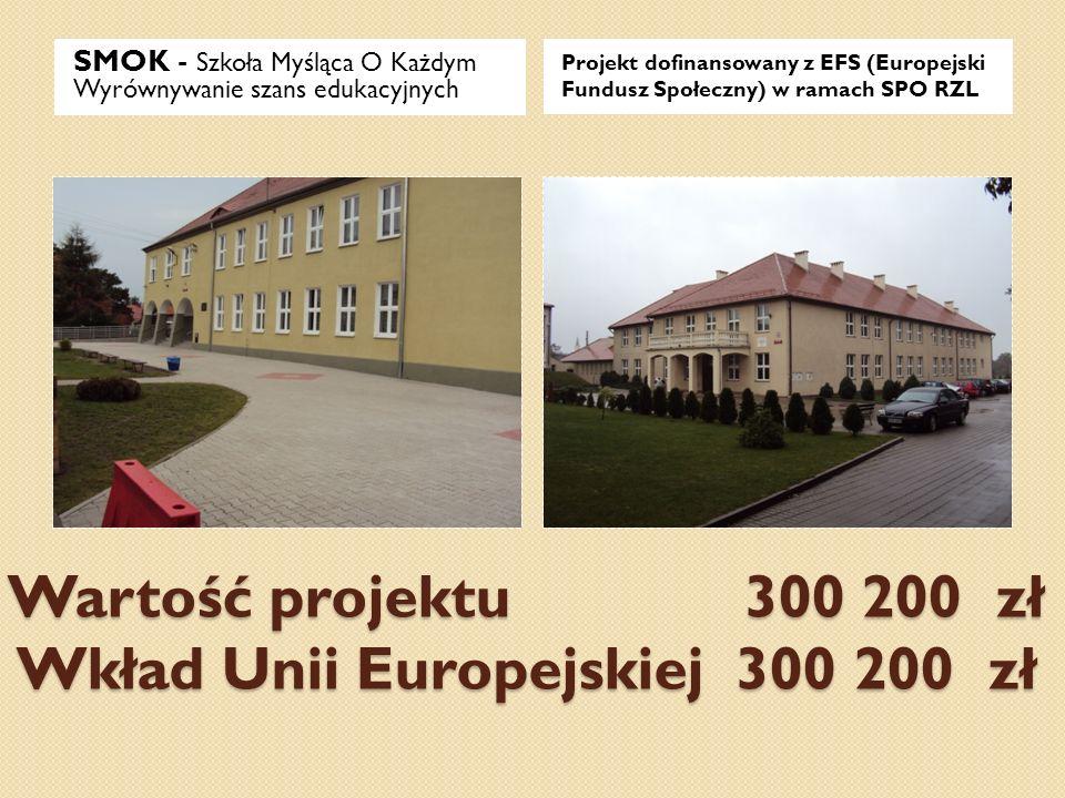 Wartość projektu 300 200 zł Wkład Unii Europejskiej 300 200 zł