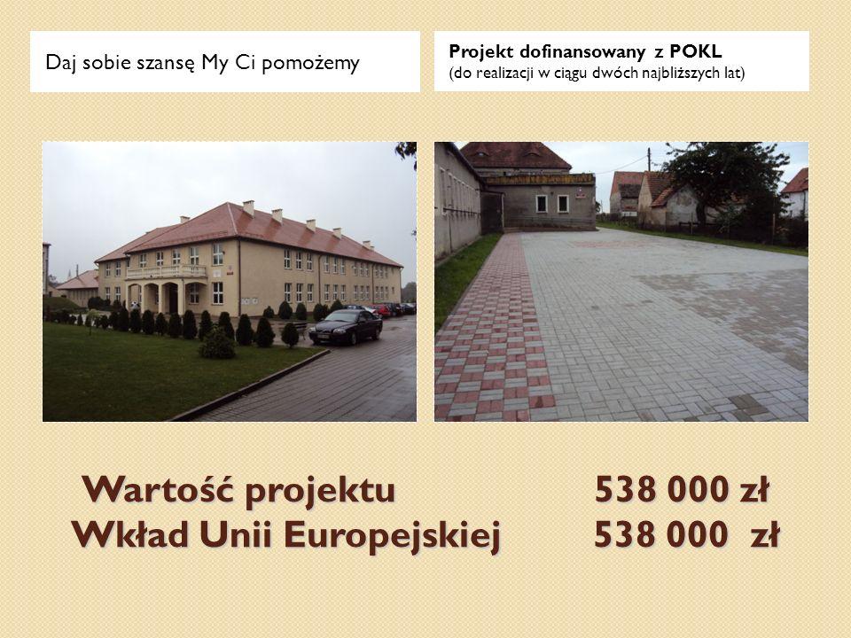 Wartość projektu 538 000 zł Wkład Unii Europejskiej 538 000 zł