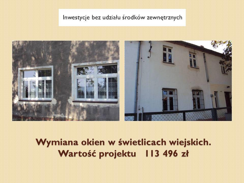 Wymiana okien w świetlicach wiejskich. Wartość projektu 113 496 zł