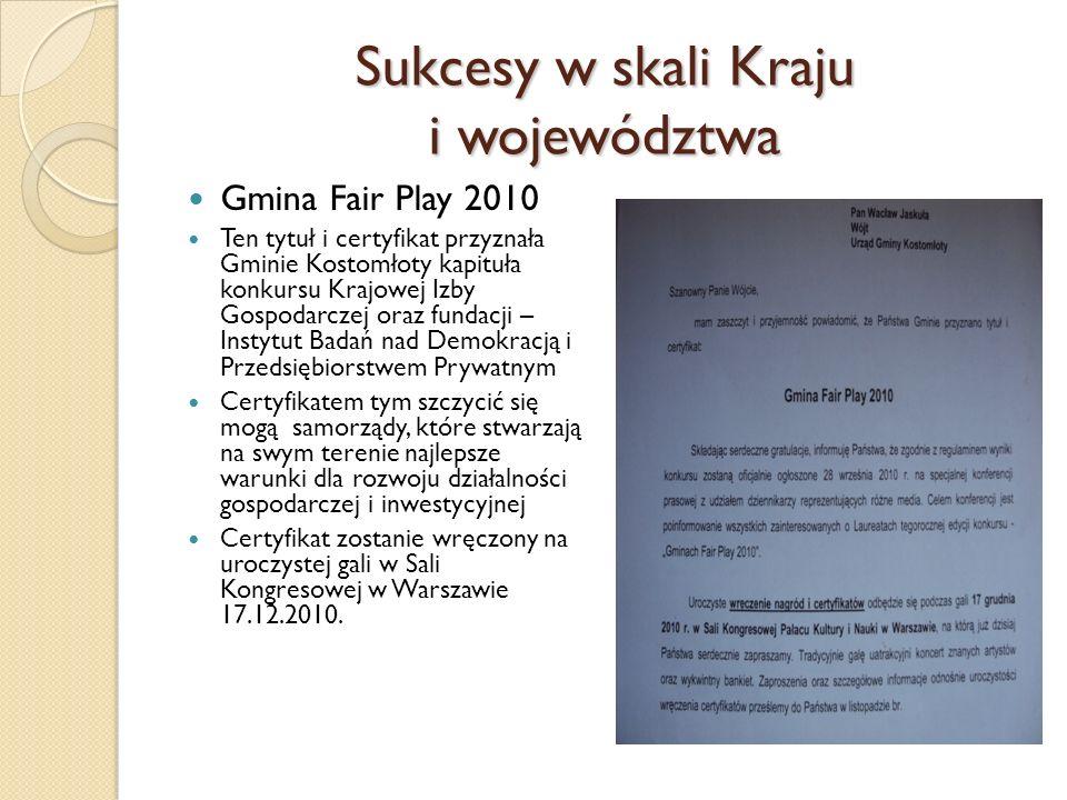 Sukcesy w skali Kraju i województwa