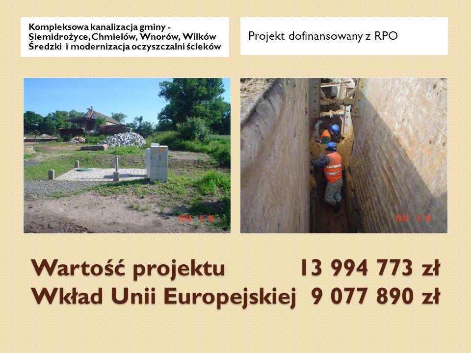 Wartość projektu 13 994 773 zł Wkład Unii Europejskiej 9 077 890 zł