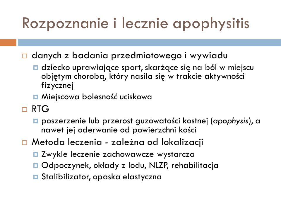 Rozpoznanie i lecznie apophysitis