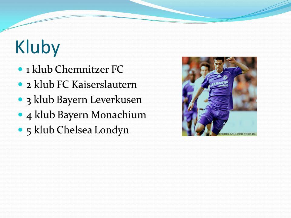 Kluby 1 klub Chemnitzer FC 2 klub FC Kaiserslautern