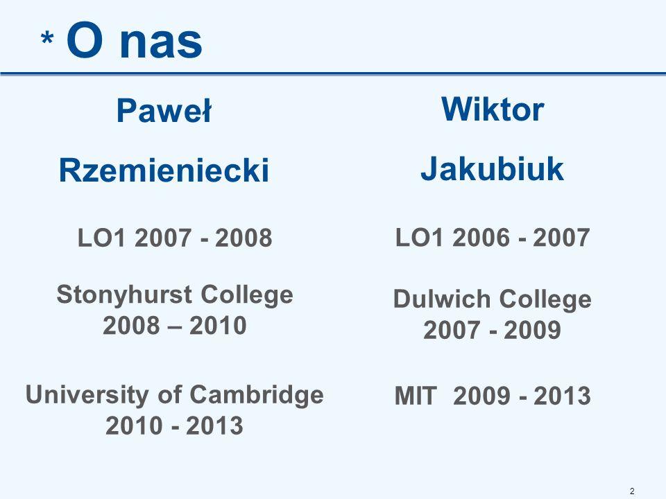 University of Cambridge 2010 - 2013
