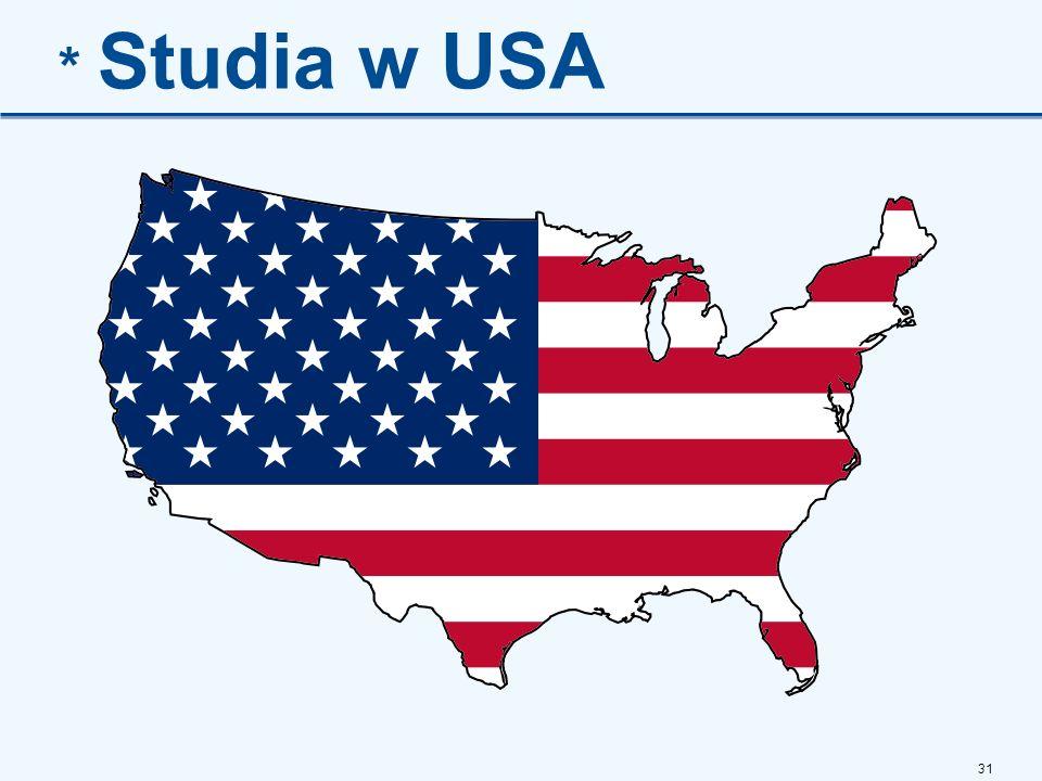 * Studia w USA