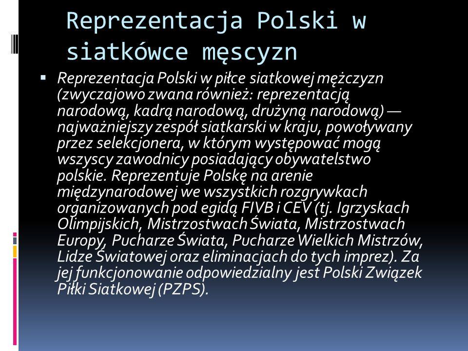 Reprezentacja Polski w siatkówce męscyzn