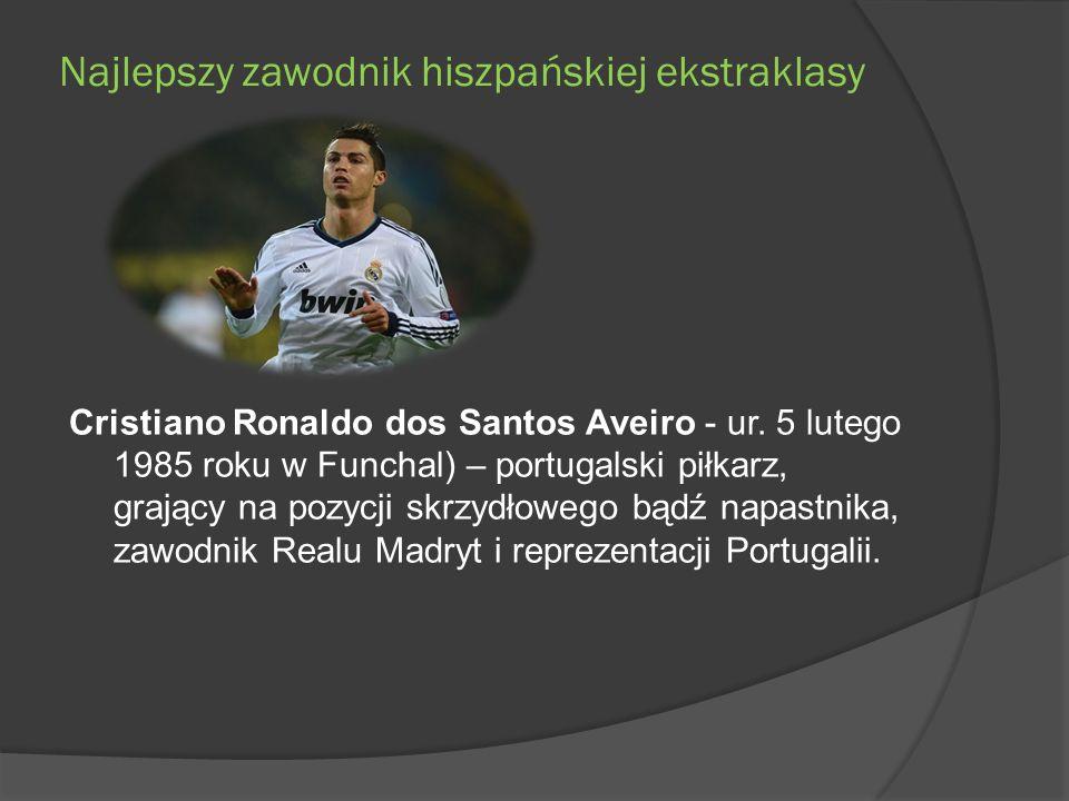 Najlepszy zawodnik hiszpańskiej ekstraklasy