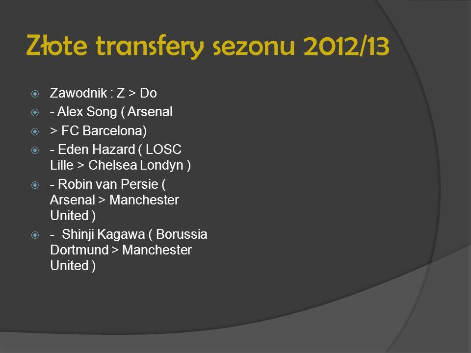 Złote transfery sezonu 2012/13