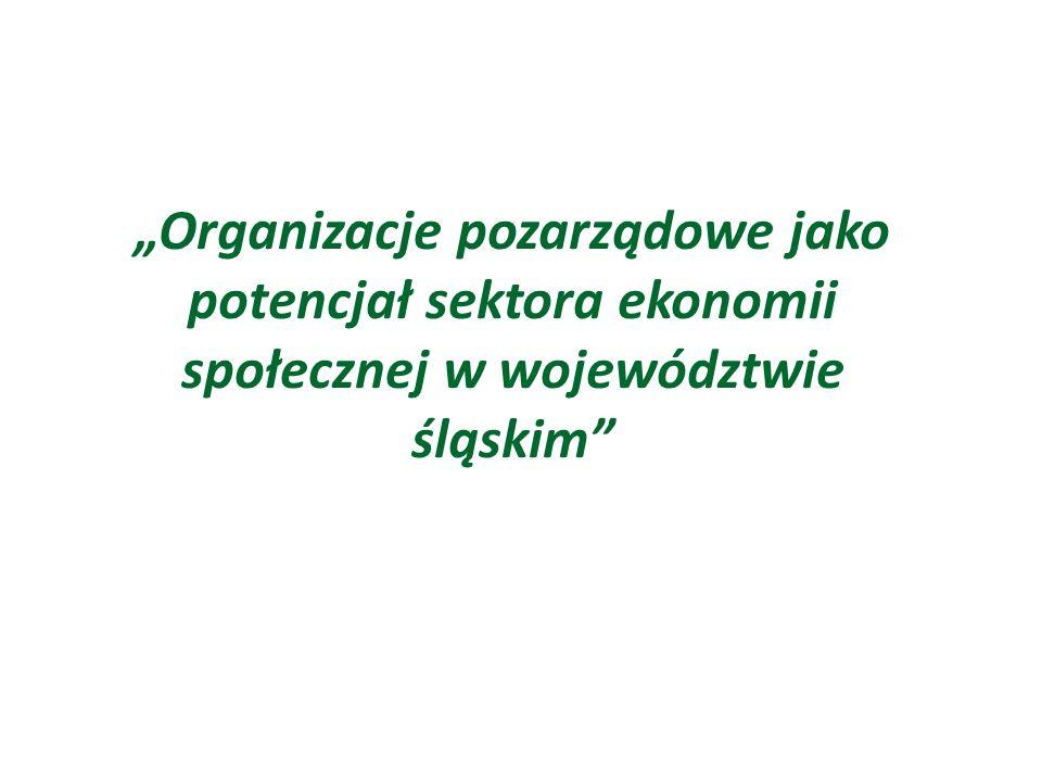 """""""Organizacje pozarządowe jako potencjał sektora ekonomii społecznej w województwie śląskim"""