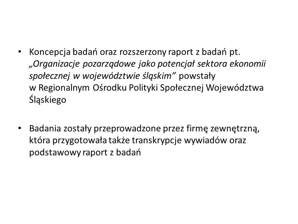 Koncepcja badań oraz rozszerzony raport z badań pt