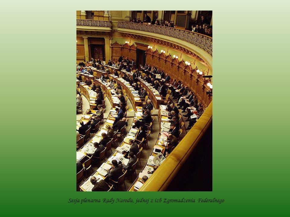 Sesja plenarna Rady Narodu, jednej z izb Zgromadzenia Federalnego