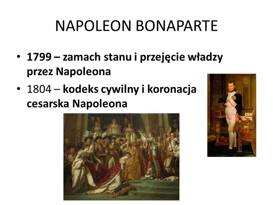 NAPOLEON BONAPARTE 1799 – zamach stanu i przejęcie władzy przez Napoleona.