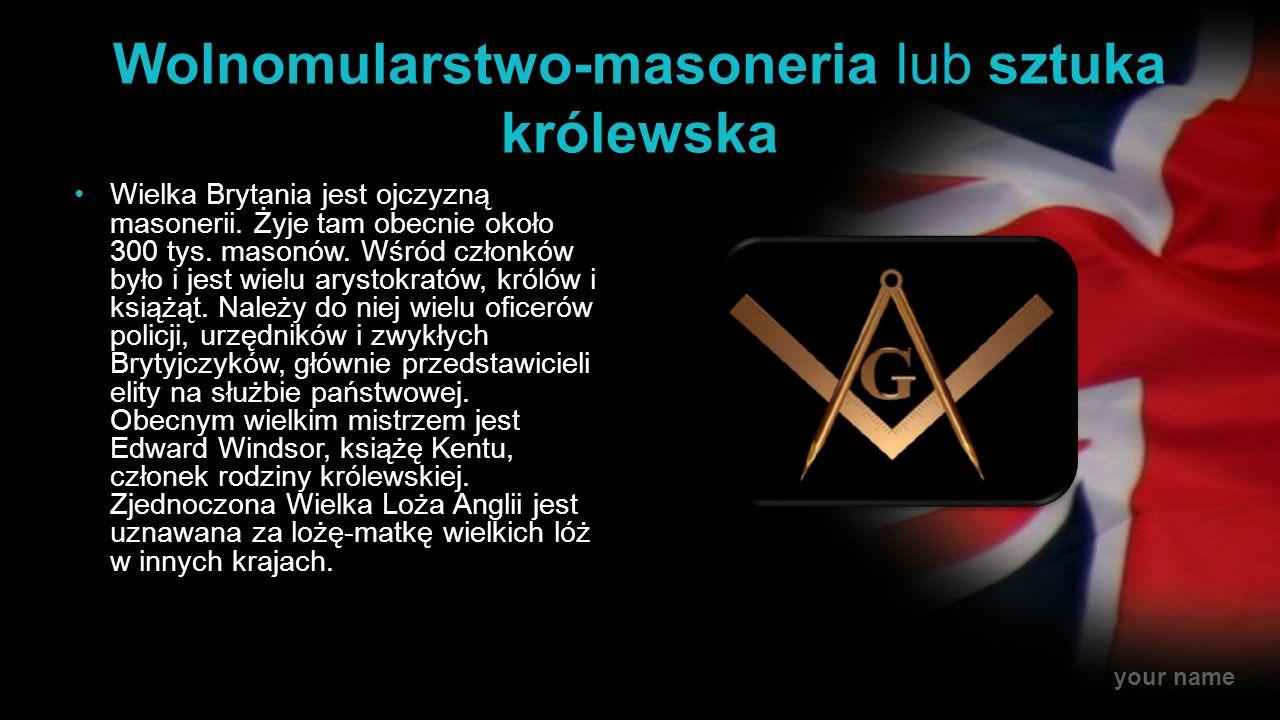 Wolnomularstwo-masoneria lub sztuka królewska