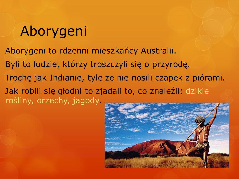 Aborygeni Aborygeni to rdzenni mieszkańcy Australii.