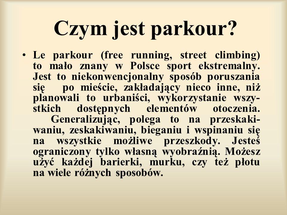 Czym jest parkour