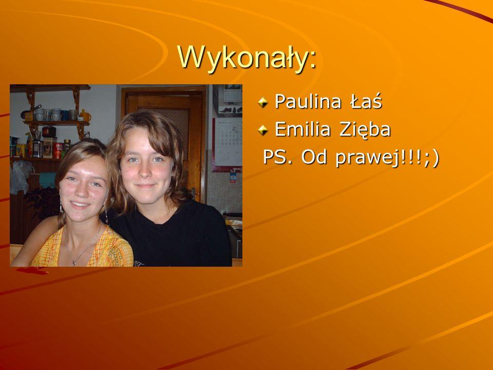 Wykonały: Paulina Łaś Emilia Zięba PS. Od prawej!!!;)