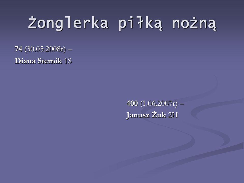 Żonglerka piłką nożną 74 (30.05.2008r) – Diana Sternik 1S
