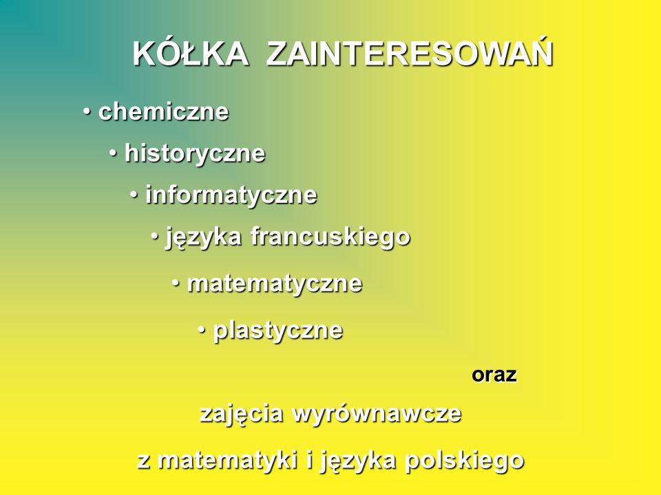 z matematyki i języka polskiego