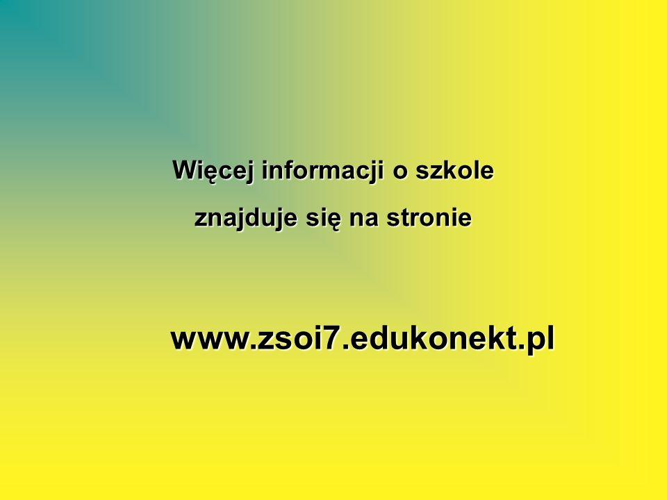 Więcej informacji o szkole znajduje się na stronie